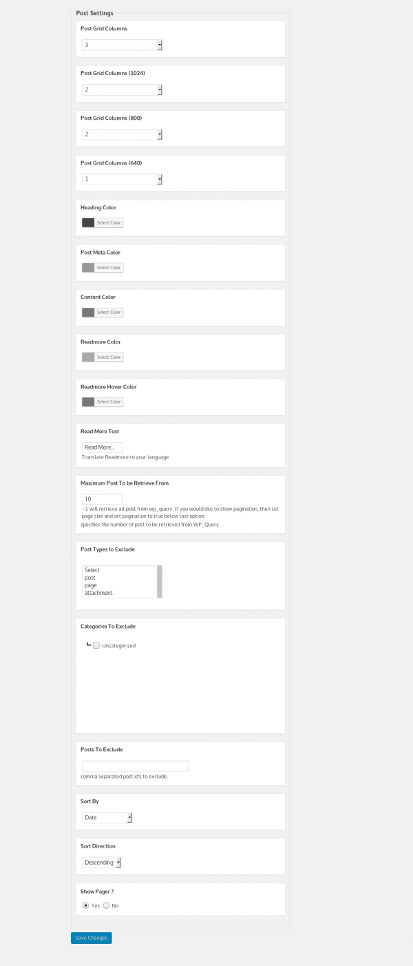 Multiple Post Grid WordPress-Add-post-grid